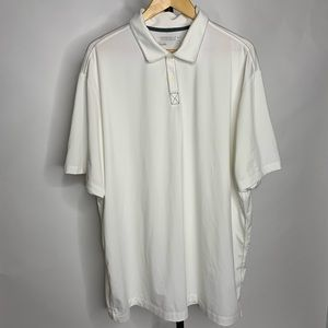 Nike Golf Pro White Button Up Collard Polo Shirt